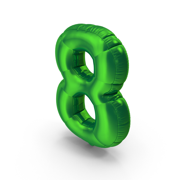 Balloons: Foil Balloon Number 8 PNG & PSD Images