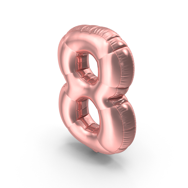 Foil Balloon Number 8 Pink PNG & PSD Images