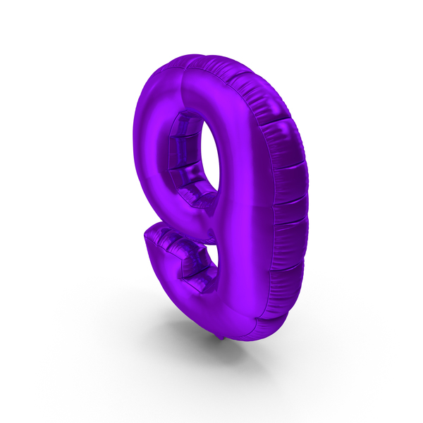 Foil Balloon Number 9 PNG & PSD Images