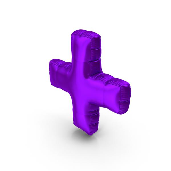 Foil Balloon Plus Purple PNG & PSD Images