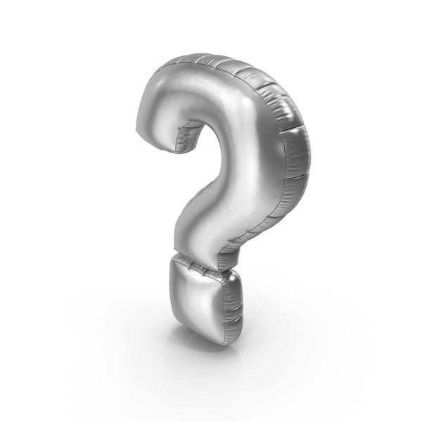 Foil Balloon Question Mark PNG & PSD Images