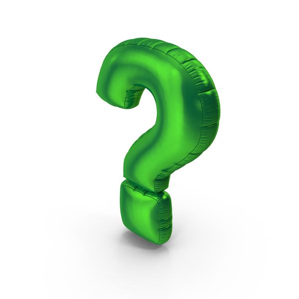 Foil Balloon Question Mark Green PNG & PSD Images