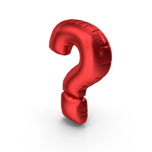 Foil Balloon Question Mark Red PNG & PSD Images