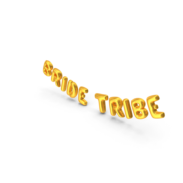 Balloons: Foil Balloon Words Bride Tribe Gold PNG & PSD Images