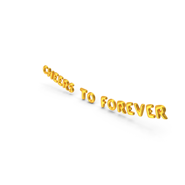 Balloons: Foil Balloon Words  Cheers to Forever Gold PNG & PSD Images