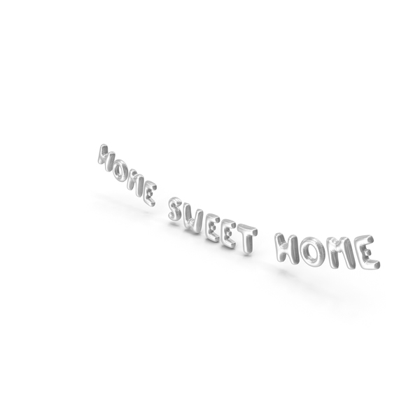 Balloons: Foil Balloon Words Home Sweet Home Silver PNG & PSD Images