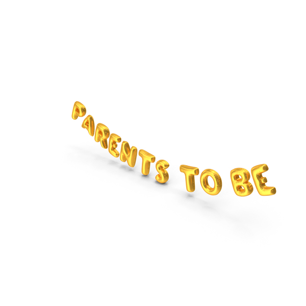 Balloons: Foil Balloon Words Parents to be Gold PNG & PSD Images