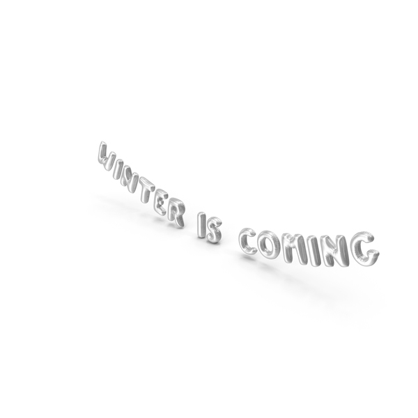 Balloons: Foil Balloon Words Winter is Coming Silver PNG & PSD Images