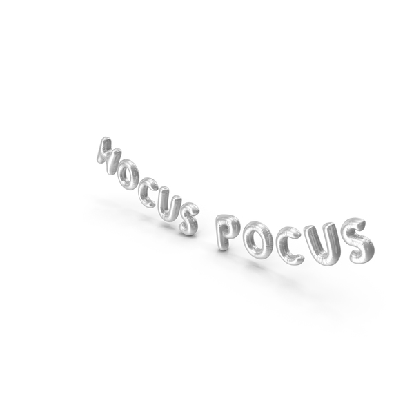 Balloons: Foil Baloon Words HOCUS POCUS Silver PNG & PSD Images