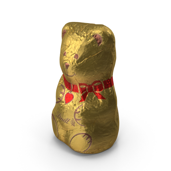 Foil Wrapped Chocolate Bear PNG & PSD Images