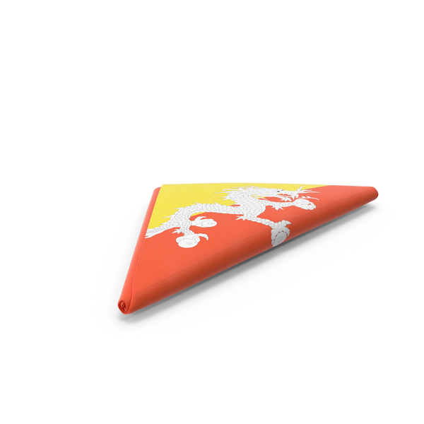 Folded Bhutan Flag PNG & PSD Images