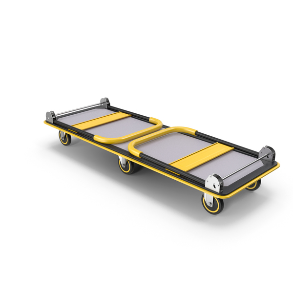 Transport Trolley: Folded Heavy Duty Platform Hand Truck PNG & PSD Images