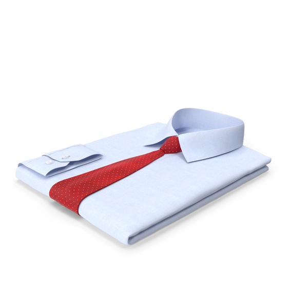 Folded Shirt With Tie PNG & PSD Images