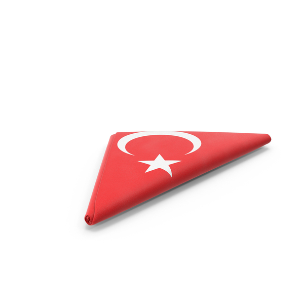 Folded Turkish Flag PNG & PSD Images