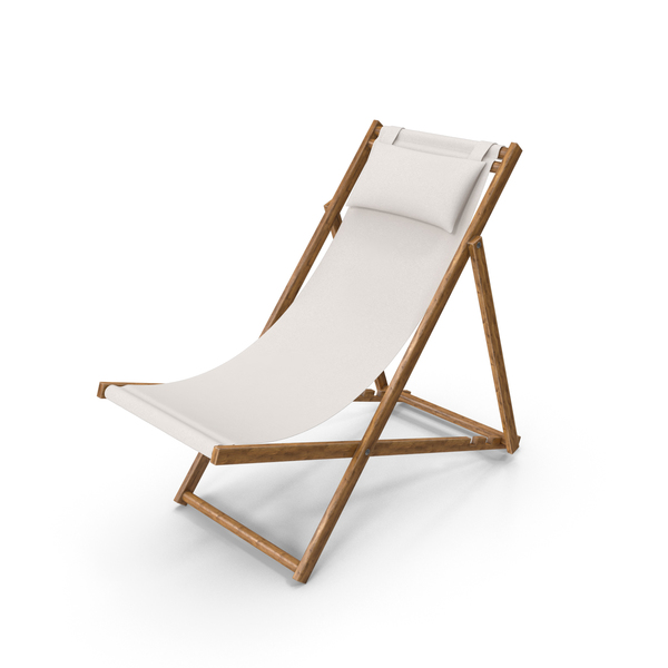 Lawn: Folding Beach Chair with Pillow PNG & PSD Images
