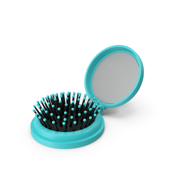 Hairbrush: Folding Hair Brush with Mirror PNG & PSD Images