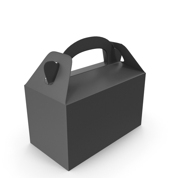 Cardboard: Food Box Black PNG & PSD Images