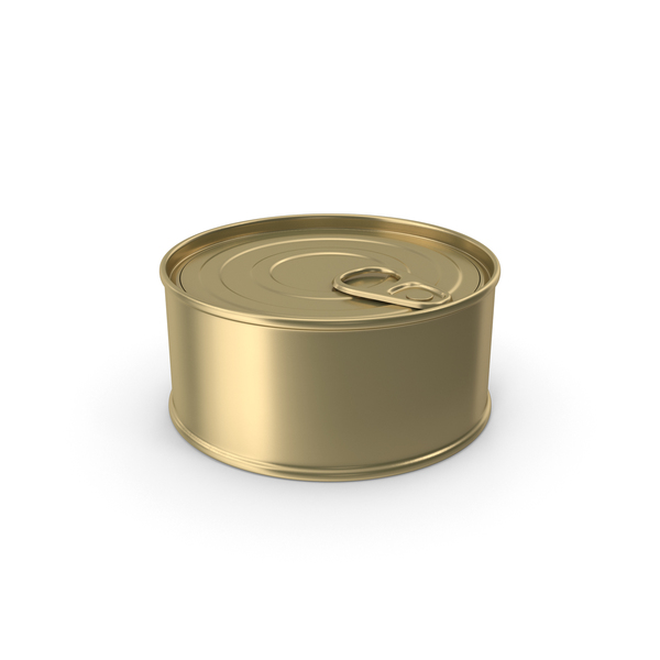 Food Can Gold No Label PNG & PSD Images