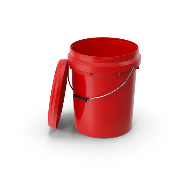 Container: Food Grade 20L Plastic Bucket PNG & PSD Images