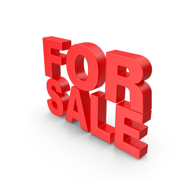 Sign: For Sale 3D Text PNG & PSD Images