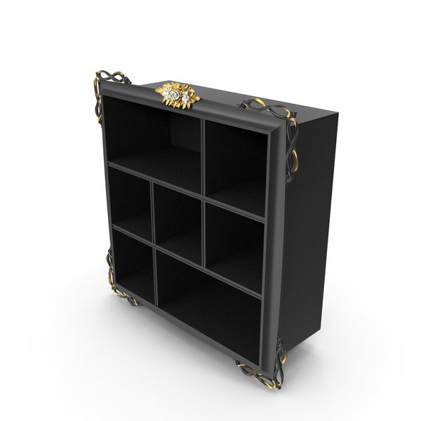 Forever Black Signorini Coco Baroque Bookcase PNG & PSD Images