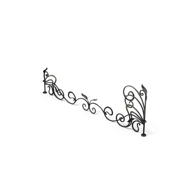 Wrought Iron Fence: Forged Fencing PNG & PSD Images