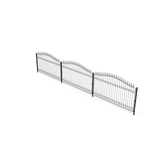Forged Metal Fence PNG & PSD Images