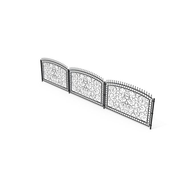 Wrought Iron: Forged Metal Fence PNG & PSD Images