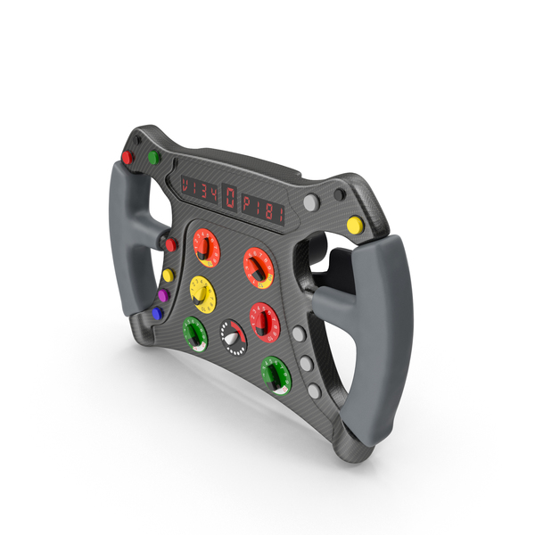 Formula One Car Style Steering Wheel PNG & PSD Images