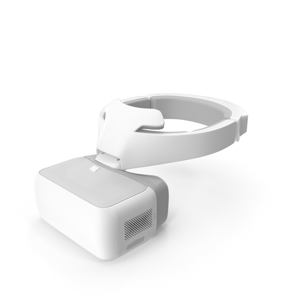 Headset: FPV Drone Googles White PNG & PSD Images