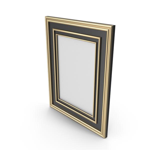 Picture: Frame Black Gold Border PNG & PSD Images