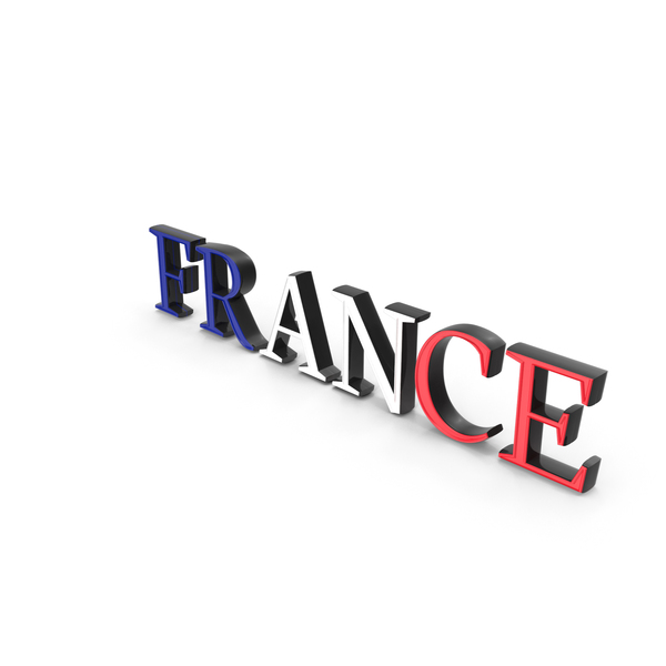 French: France Text with Flag PNG & PSD Images