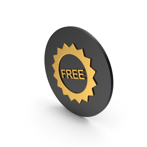 Symbols: Free Badge Gold Icon PNG & PSD Images