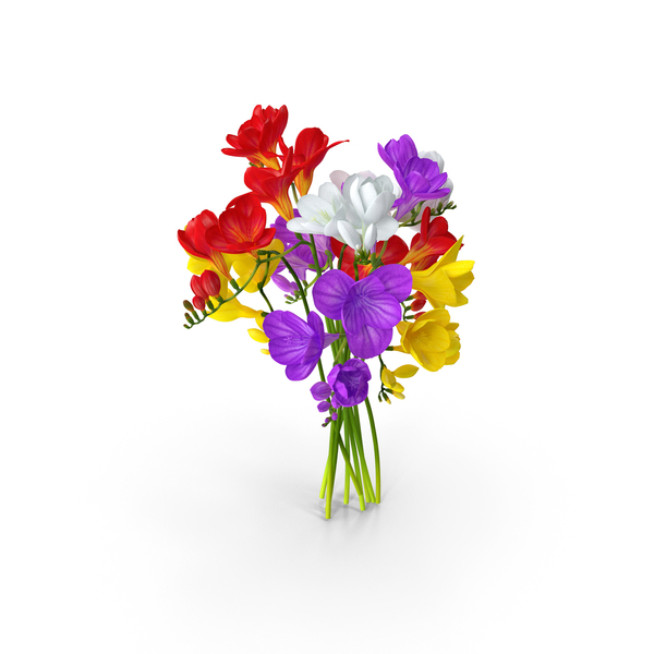 Freesia Bouquet PNG & PSD Images