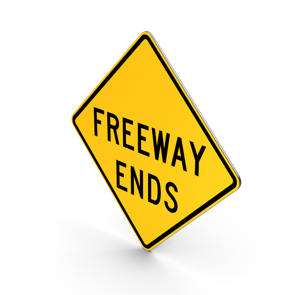 Freeway Ends Road Sign PNG & PSD Images