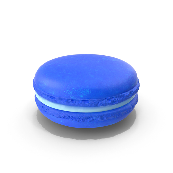 French Macaroon Blue PNG & PSD Images