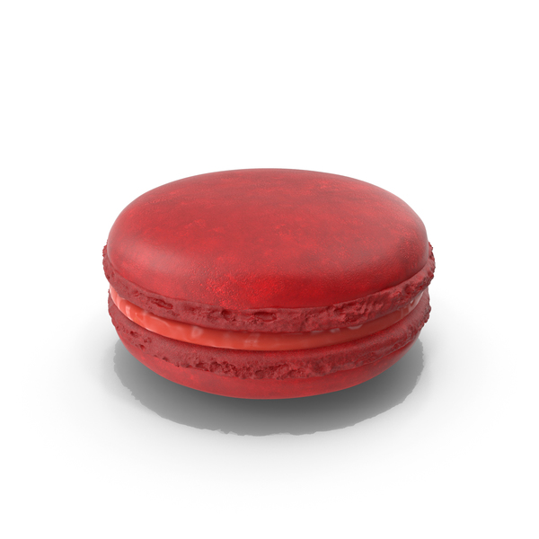 French Macaroon Strawberry PNG & PSD Images