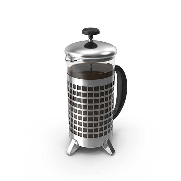 French Press Coffee Pot Full PNG & PSD Images