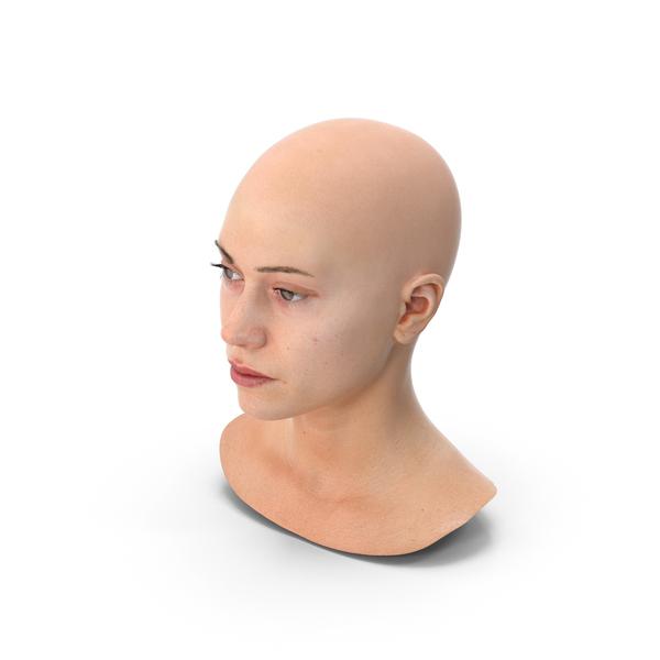 Female: Freya Human Head Neutral PNG & PSD Images