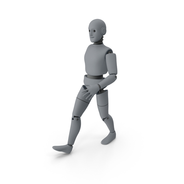 Friendly Robot Walking PNG & PSD Images