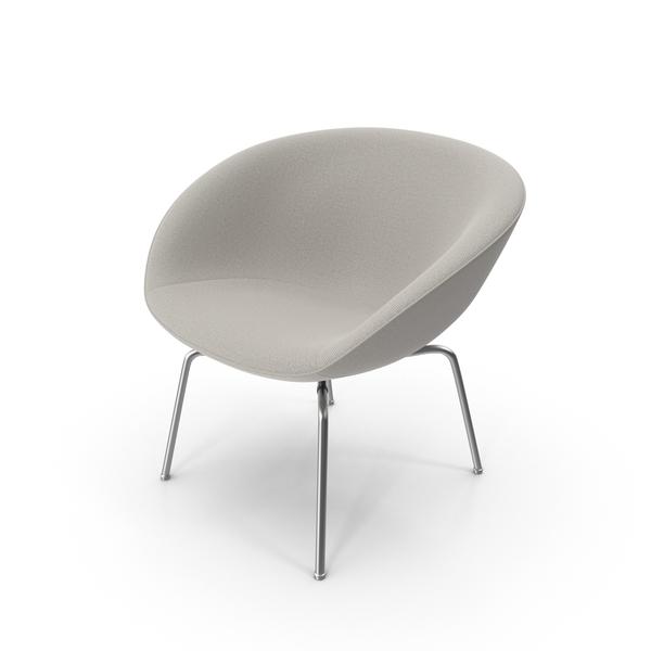 Fritz Hansen Pot Lounge Chair PNG & PSD Images