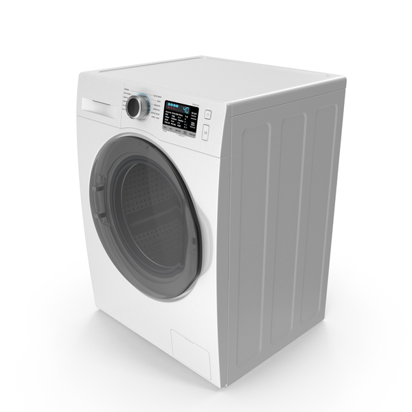 Front Load Washing Machine White PNG & PSD Images
