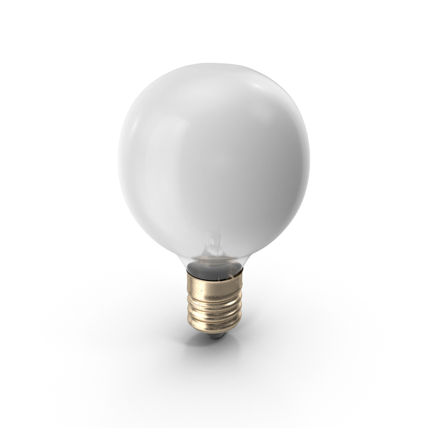Incandescent: Frosted Light Bulb PNG & PSD Images