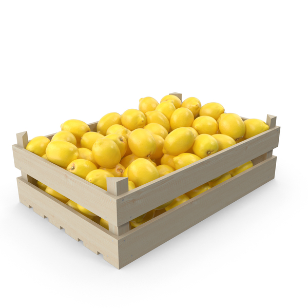 Fruit Crate With Lemons PNG & PSD Images