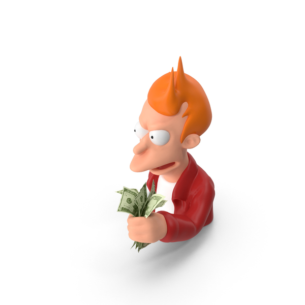 Characters: Fry Shut Up and Take My Money PNG & PSD Images