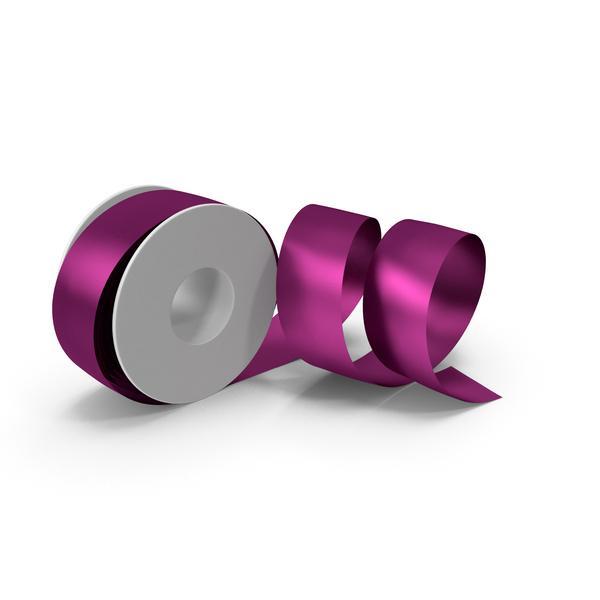 Fuchsia Foil Ribbon Spool PNG & PSD Images