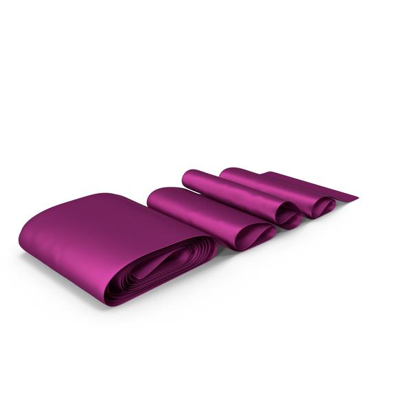 Fuchsia Silk Ribbon PNG & PSD Images