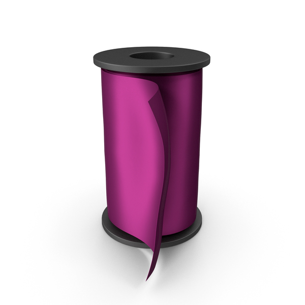 Fuchsia Silk Ribbon Spool PNG & PSD Images