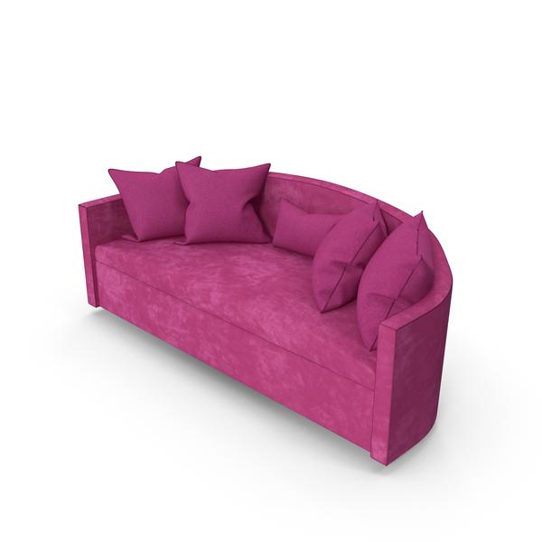Fuchsia Sofa Lounge PNG & PSD Images