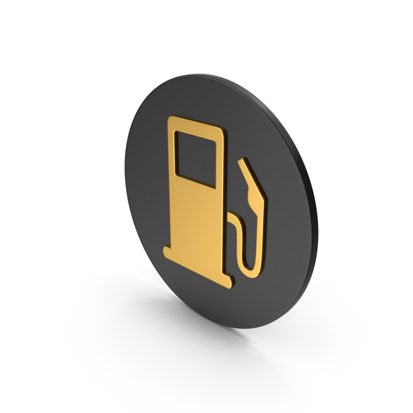 Retro Gas Pump: Fuel Station Gold Icon PNG & PSD Images